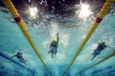 Europos plaukimo čempionato pusfinalio barjeras - per aukštas lietuviams