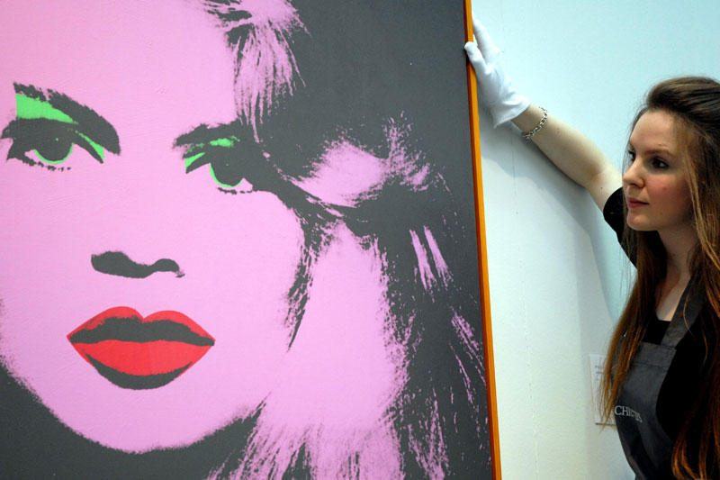 Aukcione bus parduodamas A.Warholo sukurtas aktorės B.Bardot portretas