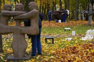 Klaipėdos skulptūrų parke – meno akcija