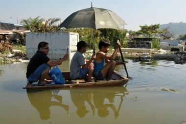 Filipinų valdžia padėkojo taifūnui