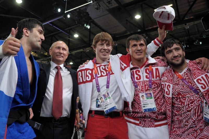 V.Putinas stebėjo dziudo turnyrą Londono olimpiadoje