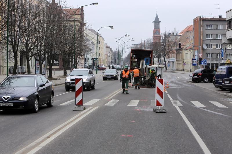 Naujojo Sodo gatvėje – apsunkintos eismo sąlygos