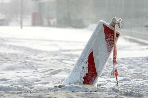 Dėl sunkaus sniego trečdaliu padaugėjo nekilnojamojo turto draudžiamųjų įvykių