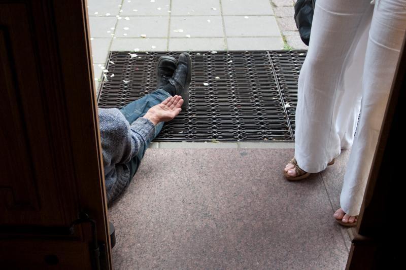 Klaipėdoje ketinama uždrausti elgetauti