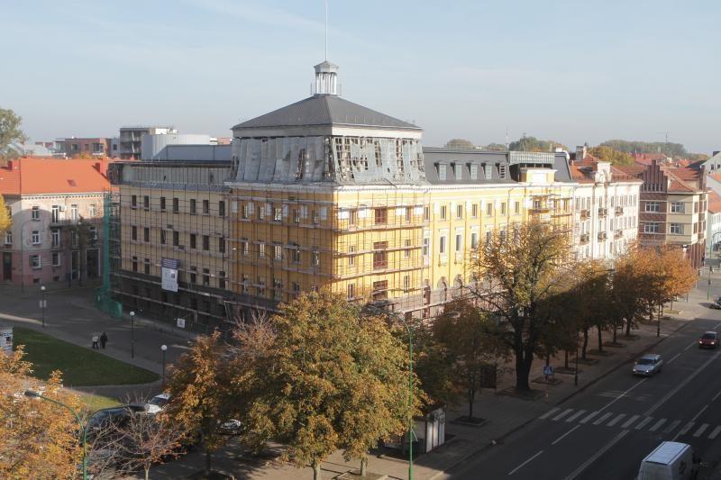 """Uostamiesčio viešbučio """"Viktorija"""" fasadas atgimė"""