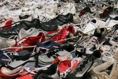 Pasaulio rekordas - ilgiausia batų grandinė