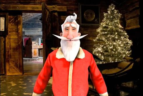 """A. Zuokas sveikina """"persirengęs"""" skaitmeniniu Kalėdų seneliu"""