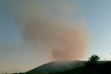 Virš Lapių sąvartyno vėl kyla dūmai (papildyta)