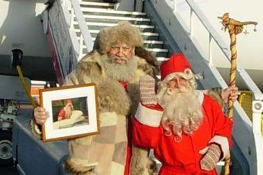 Į Vilnių iš Suomijos atvyko Kalėdų Senelis