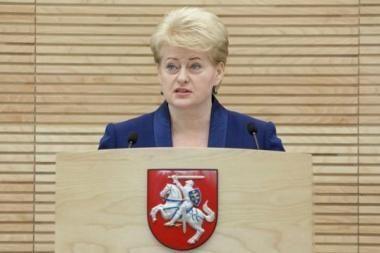 Prezidentė su Seimo valdyba aptars politinio sezono darbus