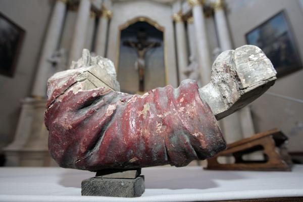 Kristaus skulptūra grįžta į Vilniaus Kalvarijas