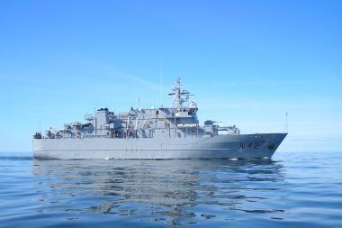 Baltijos šalių karinių laivų eskadrai vadovaus A.Širvys