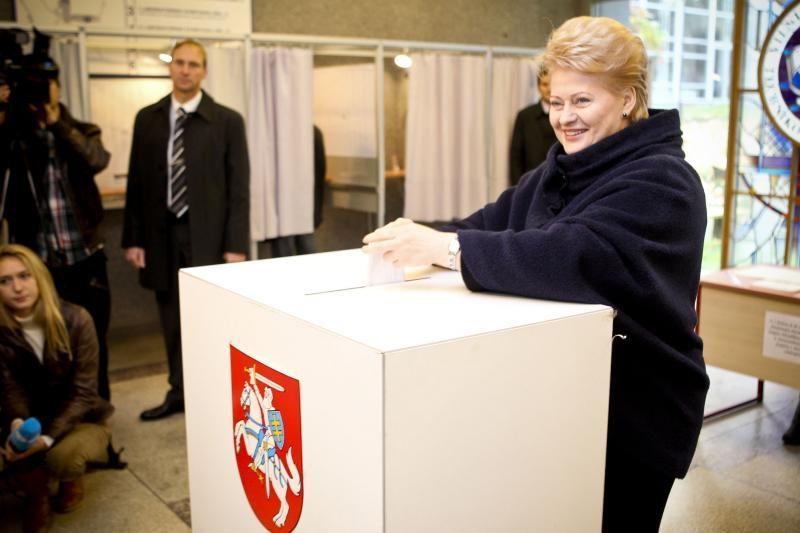 D. Grybauskaitė: tvirtai žinojau, už ką balsuoti