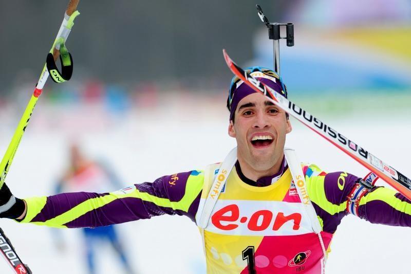 Prancūzijos biatlonininkui - planetos čempionato aukso medalis