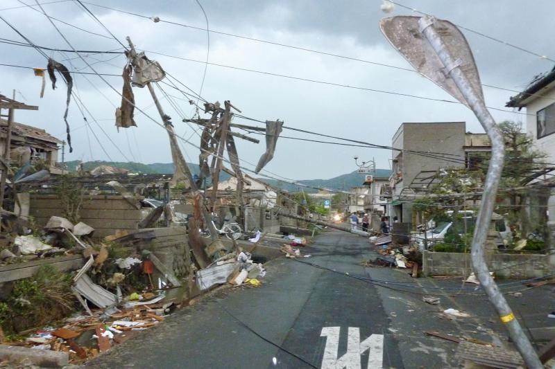 Japonijoje per viesulą susižeidė 20 žmonių