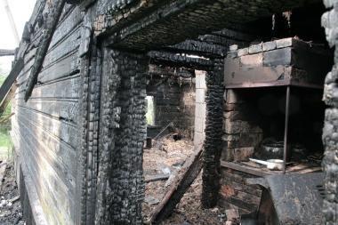 Tvarte sudegė dvi kiaulės