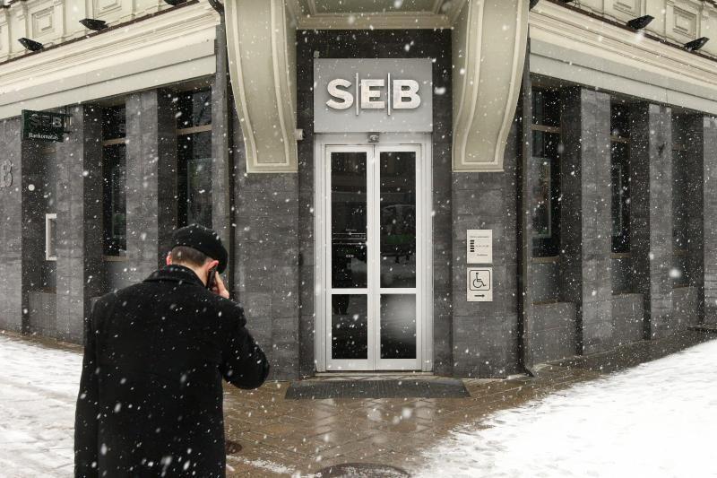 Laikinai buvo sutrikusi SEB banko skyriaus Kaune veikla