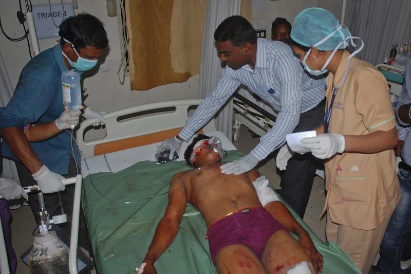 Indijoje per sprogimus žuvo 20 žmonių, sužeista daugiau kaip 50