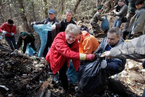 Lietuvos šiukšlynus kuopė ir D.Grybauskaitė