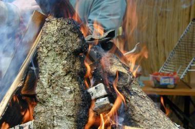 Šiukšlyne apdegė benamis