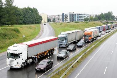 Ribojamas leidimų išdavimas sunkiasvorėmis transporto priemonėmis