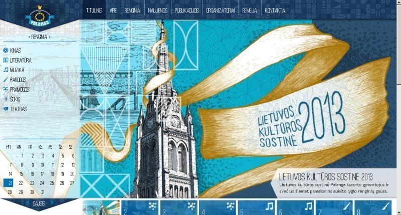 Apie kultūros sostinės Palangos renginius – specialiame tinklalapyje