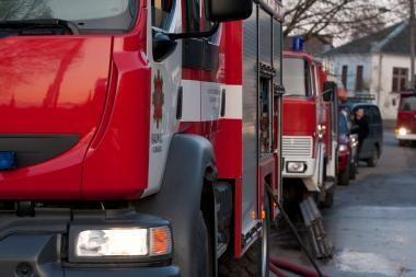 Klaipėdos ugniagesiams - karštos dienos