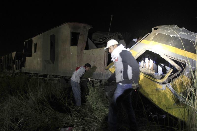 Egipte traukinio avarijos aukų skaičius padidėjo iki 19