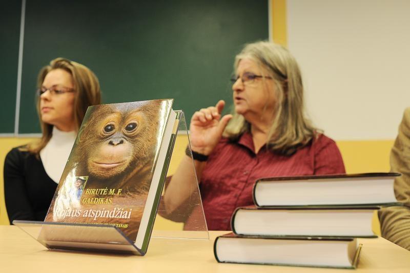 B.Galdikas: orangutanus saugokime nepirkdami palmių aliejaus