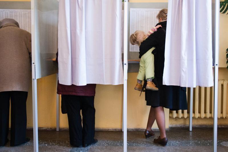 Naujamiesčio apygardos Gedimino apylinkėje - rinkėjų antplūdis