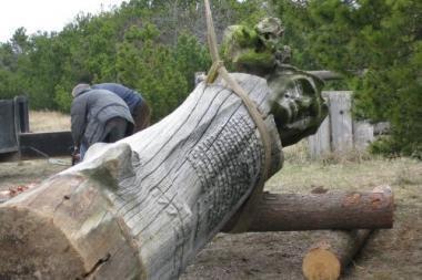 Neringoje atstatoma L.Rėzos skulptūra