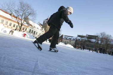 """Prie """"Megos"""" bus įrengta kalėdinė ledo čiuožykla"""
