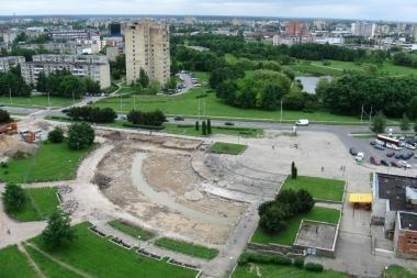 Tęsiama  Čečėnijos aikštės rekonstrukcija