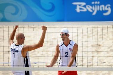 Paplūdimio tinklinio auksą laimėjo amerikiečiai