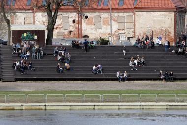Amfiteatre rodys visas krepšinio rungtynes