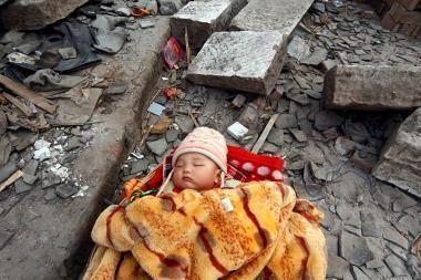 Per žemės drebėjimą Kinijoje sužeisti 29 žmonės