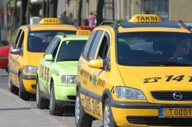 Plėšikų taikinys - taksistai
