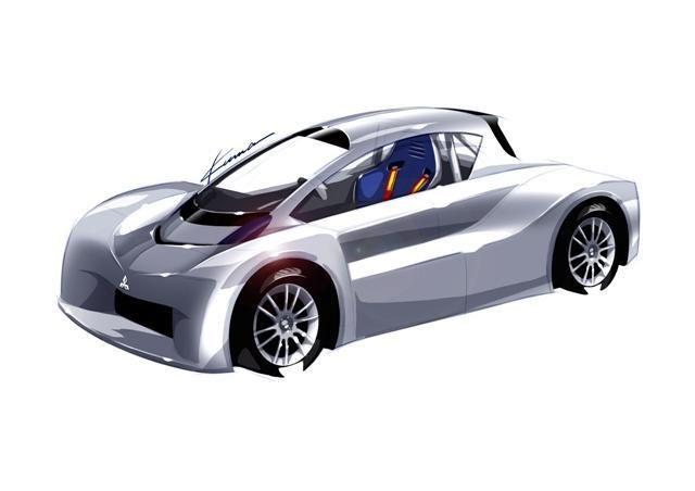 """""""Mitsubishi"""" elektromobilio sportinis prototipas startuos """"Pikes Peak"""""""