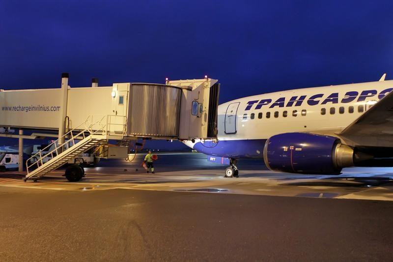 """Rusijos """"Transaero Airlines"""" pradeda skrydžius iš Maskvos į Vilnių"""