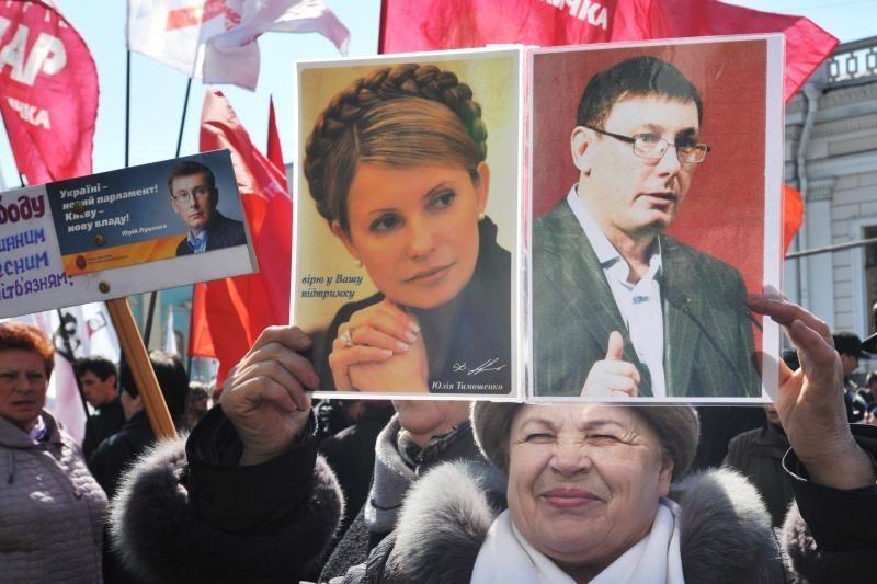 Ukrainos opozicijos šalininkų protestuose dalyvauja tūkstančiai žmonių
