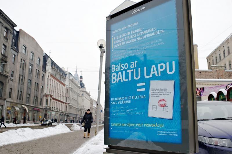 Latvijoje - paskutinė agitacijos dėl rusų kalbos statuso diena
