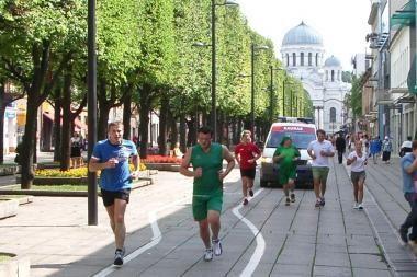 Bėgo už naujus sporto rūmus