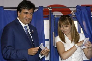 Gruzijos savivaldybių rinkimuose pirmauja M.Saakašvilio partija (papildyta)