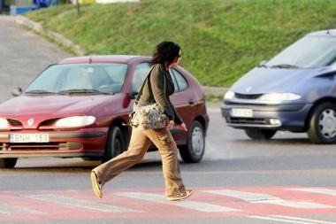 Policija griežčiau perspės neatsargius pėsčiuosius
