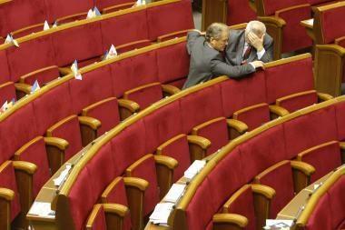 Ukraina neišvengs išankstinių parlamento rinkimų