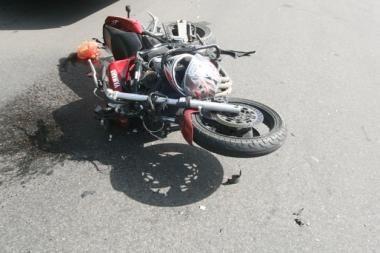 Važinėdami motociklu vaikai sukėlė avariją