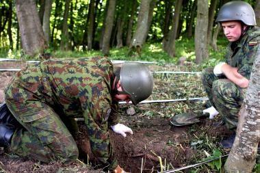 Išminuotojai sunaikino Kauno rajone rastą sprogmenį