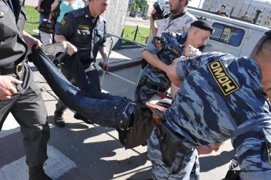 Rusijoje milicija išvaikė protestuotojus