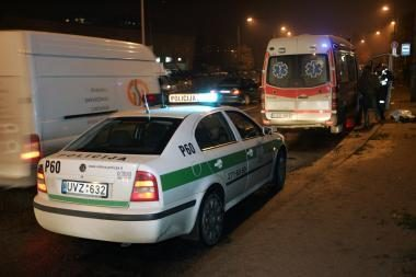 Kaune į avariją pateko policijos automobilis