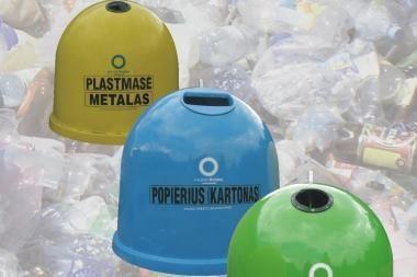 Pastatys naujus varpo formos konteinerius